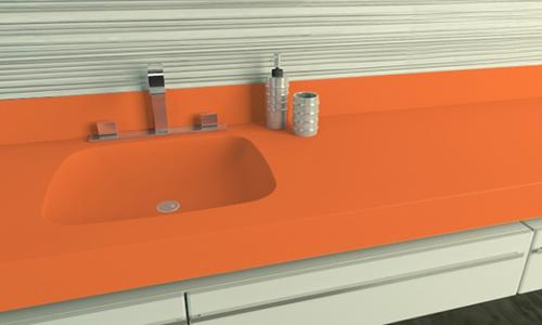 Blat compozit Corian® Citrus Orange